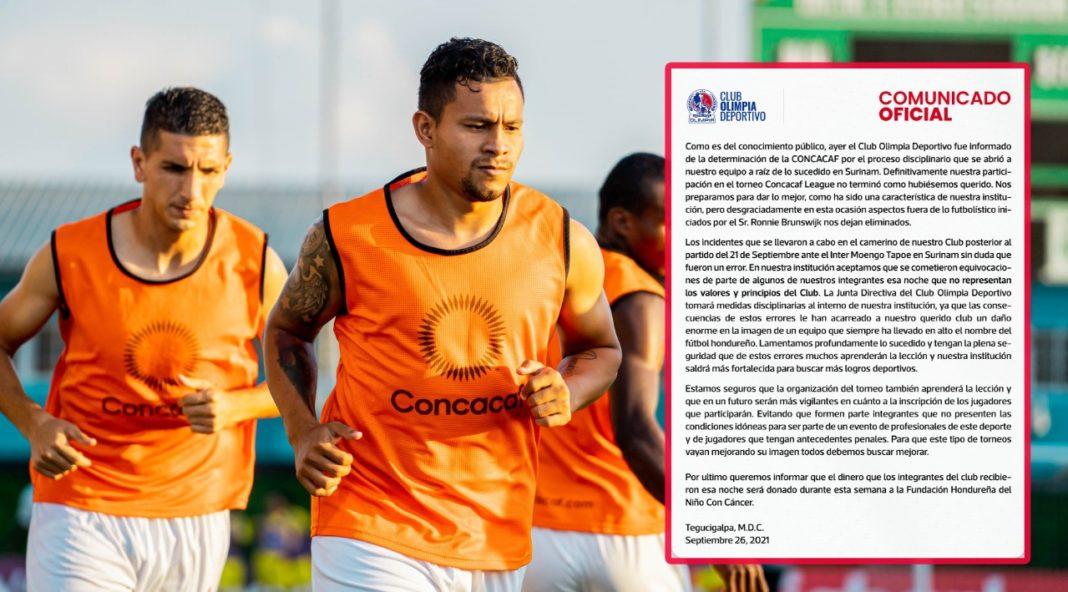 Olimpia Comunicado Concacaf